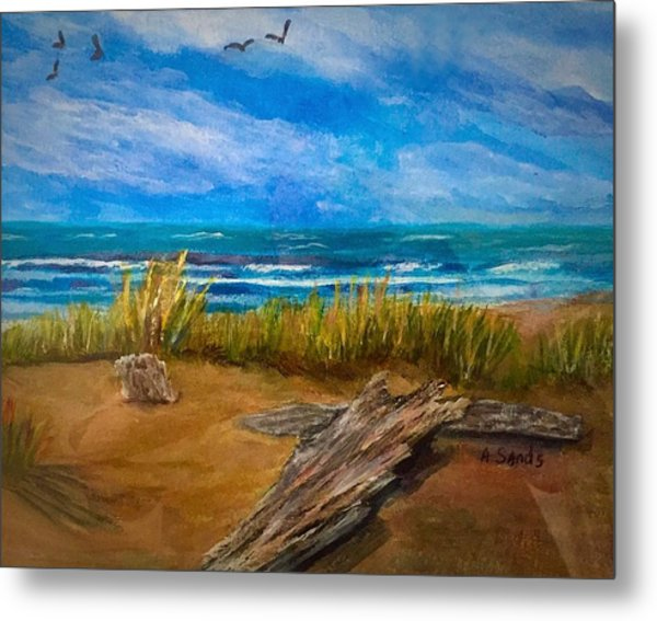 Serenity On A Florida Beach Metal Print