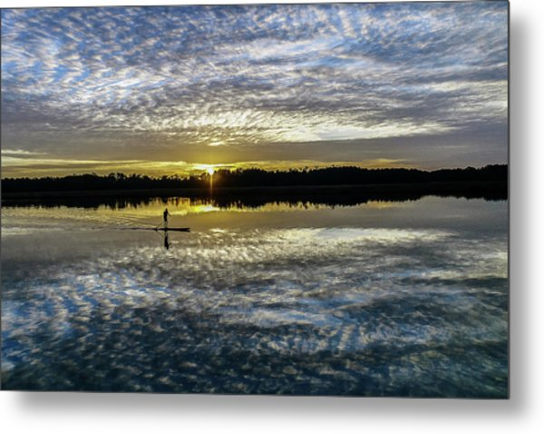 Serenity On A Paddleboard Metal Print