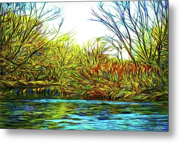 Serenity On The River Metal Print