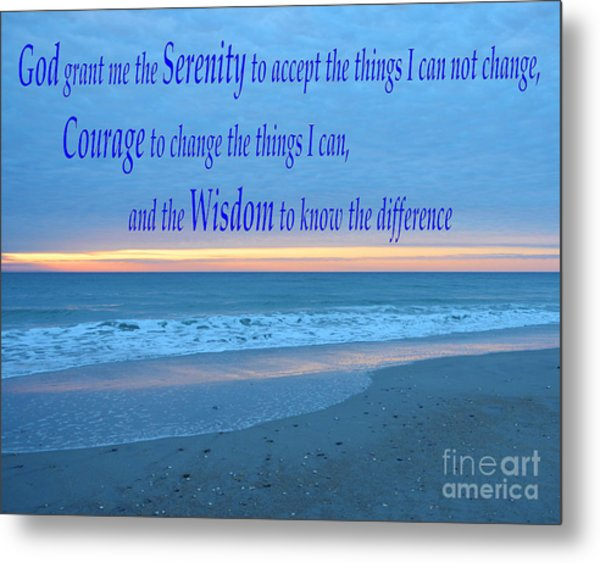 Serenity Prayer-1 Metal Print