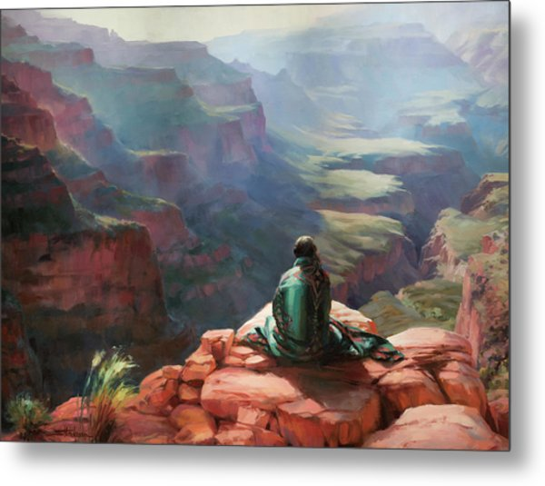 Metal Print featuring the painting Serenity by Steve Henderson
