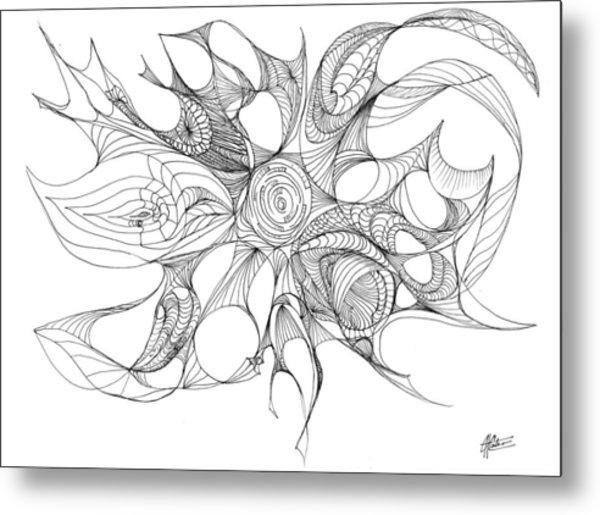 Serenity Swirled Metal Print