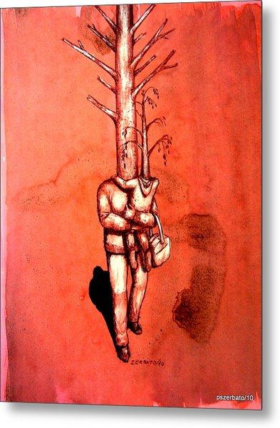 Series Trees Drought 3 Metal Print by Paulo Zerbato