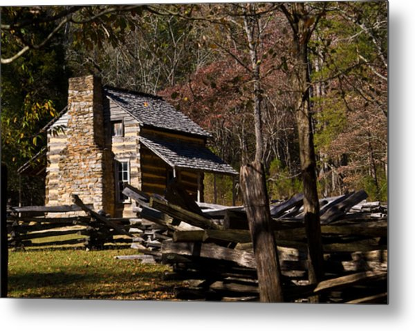 Settlers Cabin Cades Cove Metal Print