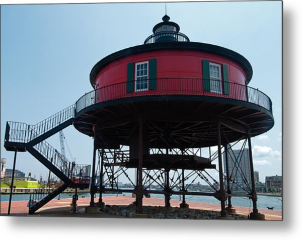 Seven-foot Knoll Lighthouse Metal Print