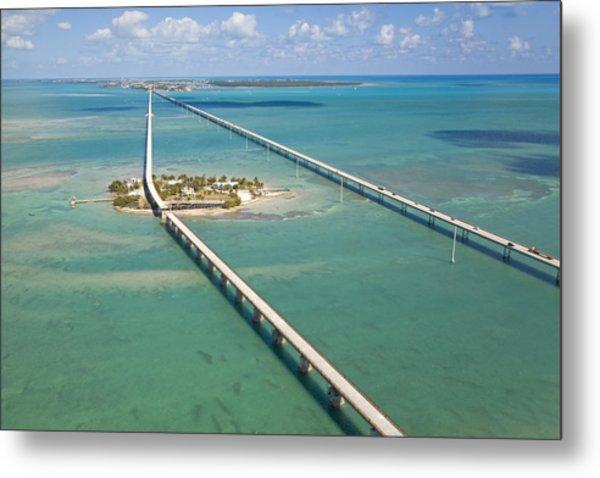 Seven Mile Bridge Crossing Pigeon Key Metal Print