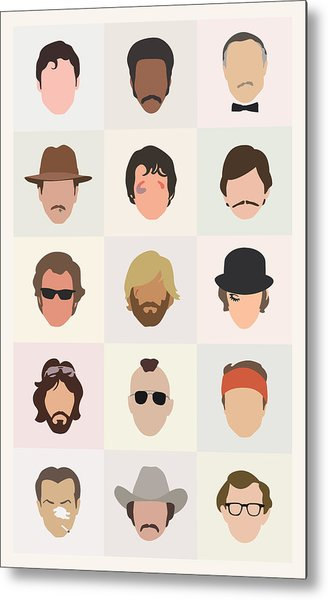 Seventies Movie Dudes Metal Print