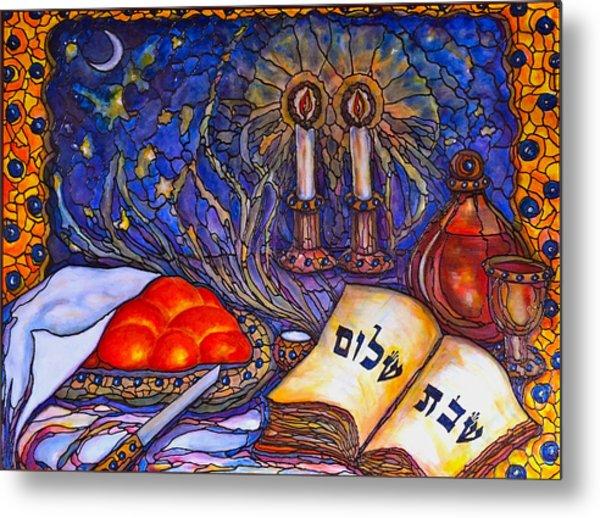 Shabbat Shalom Metal Print