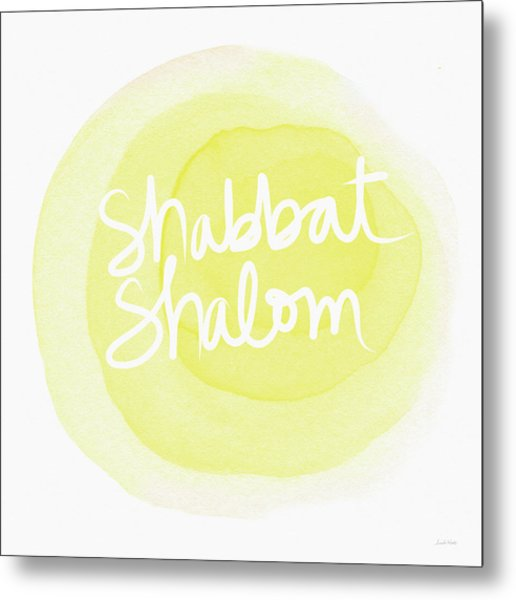 Shabbat Shalom Sun Drop - Art By Linda Woods Metal Print