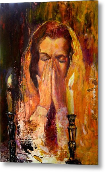 Shabbat's Pray Metal Print