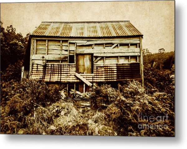 Shabby Country Cottage Metal Print