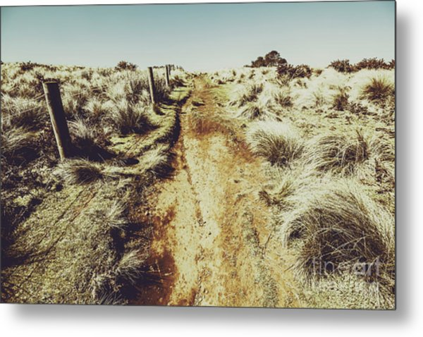 Shabby Outback Path Metal Print