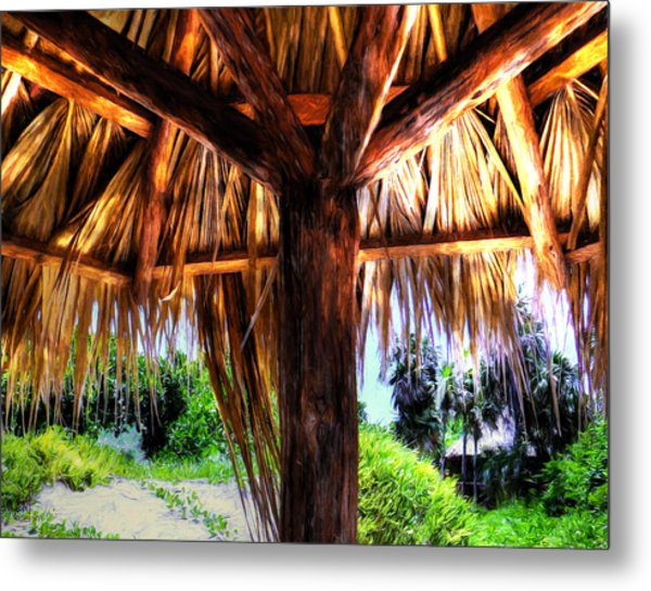 Shade On The Beach Metal Print