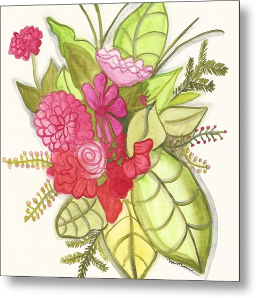 Shades Of Red Bouquet Metal Print