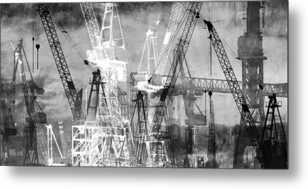 Metal Print featuring the digital art Shadow And Light by Marc Huebner