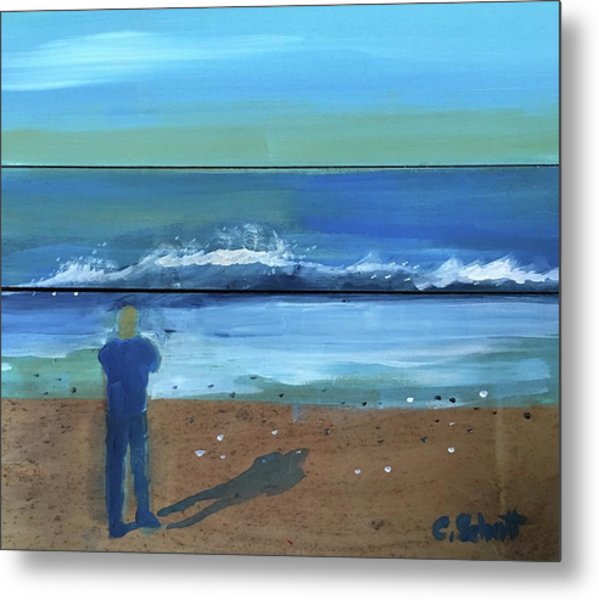 Shadow Beach Metal Print