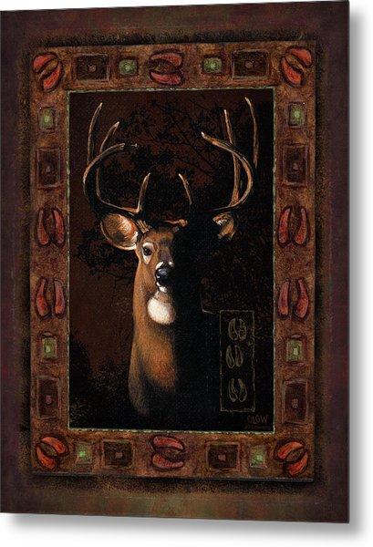Shadow Deer Metal Print
