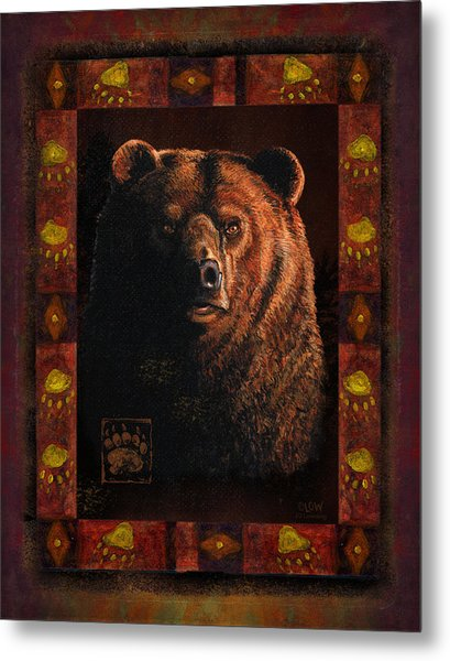 Shadow Grizzly Metal Print