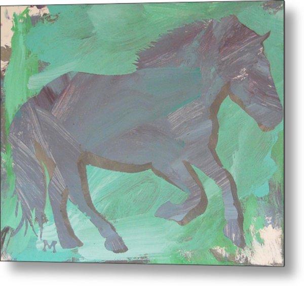 Shadow Horse Metal Print