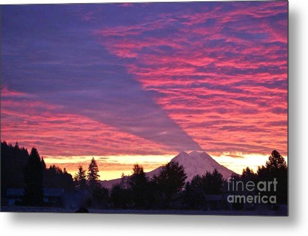 Shadow Of Mount Rainier Metal Print