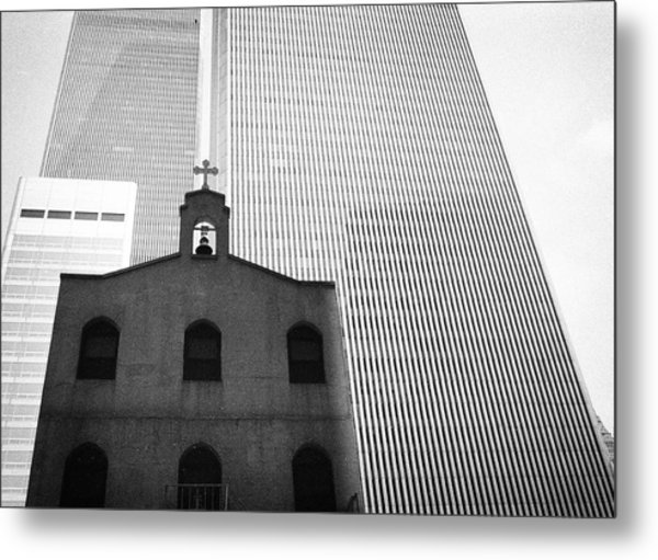 Shadow Of World Trade Center Metal Print