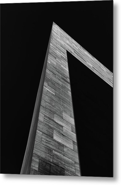 Shadow On The East Wing Metal Print by Andrew Wohl