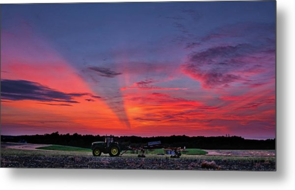 Metal Print featuring the photograph Shadow Streak Sunset by Mark Dodd