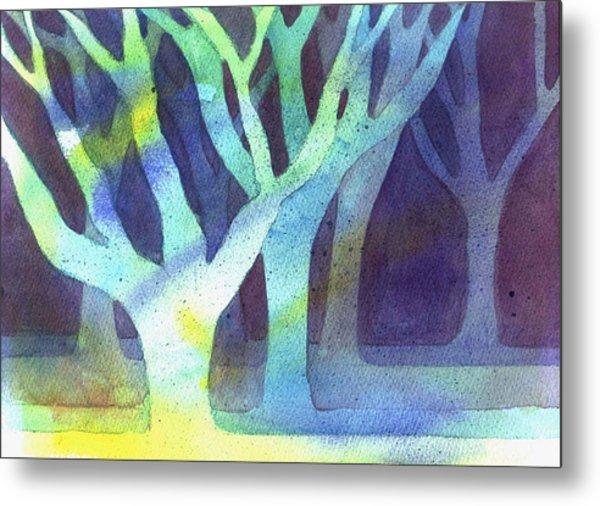 Shadow Trees Metal Print by Jane Croteau