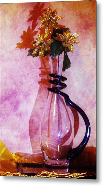 Shadows Of Gold Metal Print