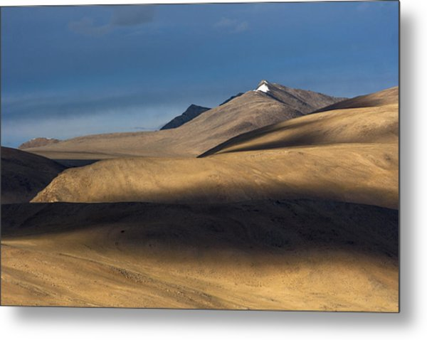Shadows On Hills Metal Print