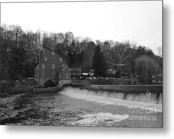 Shadows On The Mill In Clinton Metal Print