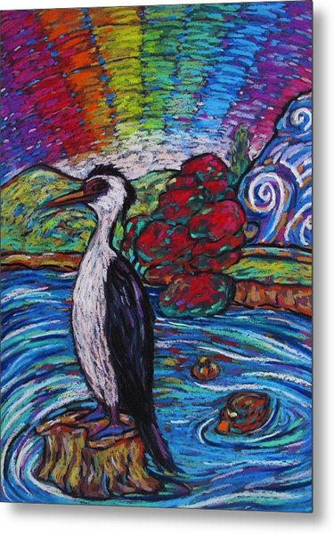 Shag On A Rock Metal Print