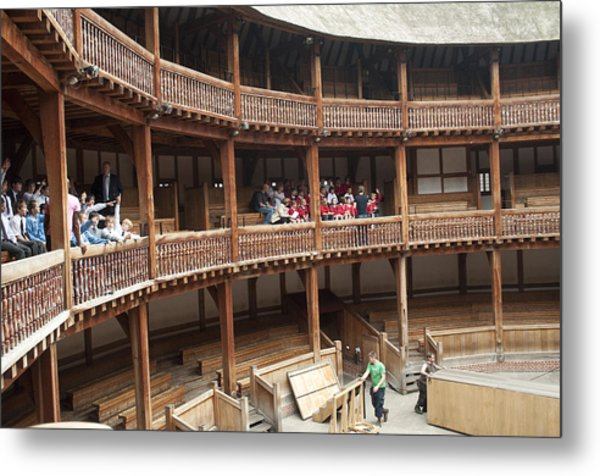 Shakespeare's Globe Theater C378 Metal Print by Charles  Ridgway