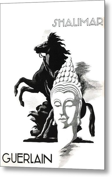 Metal Print featuring the digital art Shalimar by ReInVintaged