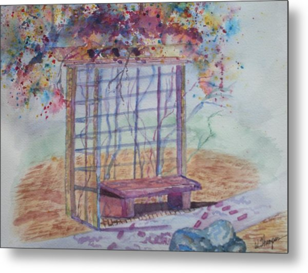 Shalom Rose Arbor Metal Print by Warren Thompson