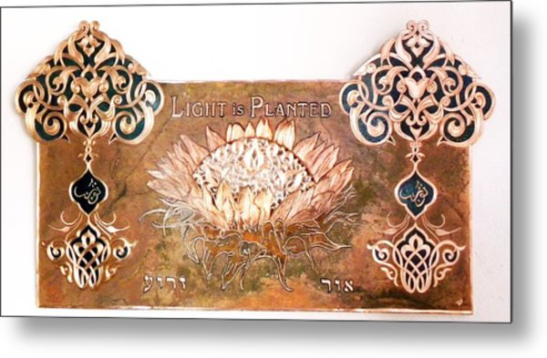 Shams Enflowered Metal Print