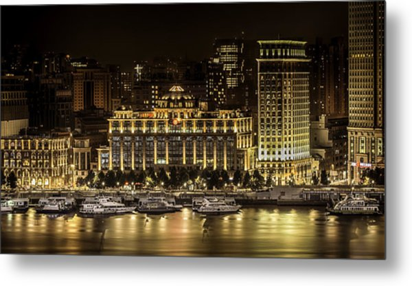 Shanghai Nights Metal Print