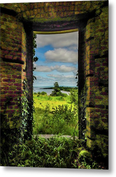 Metal Print featuring the photograph Shannon Estuary From Abandoned Paradise House by James Truett