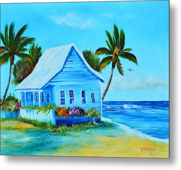 Shanty In Jamaica Metal Print