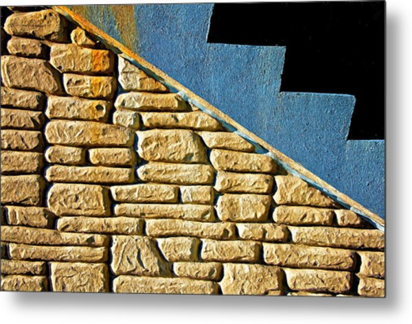 Shapes And Forms Of Station Stairway Metal Print