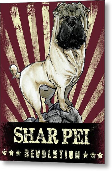 Shar Pei Revolution Metal Print