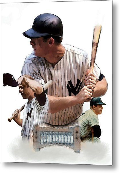 Shared Legacy Mickey Mantle Metal Print