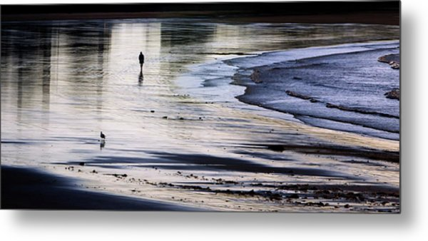 Sharing The Morning Metal Print