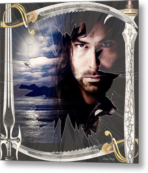 Shattered Kili With Swords Metal Print