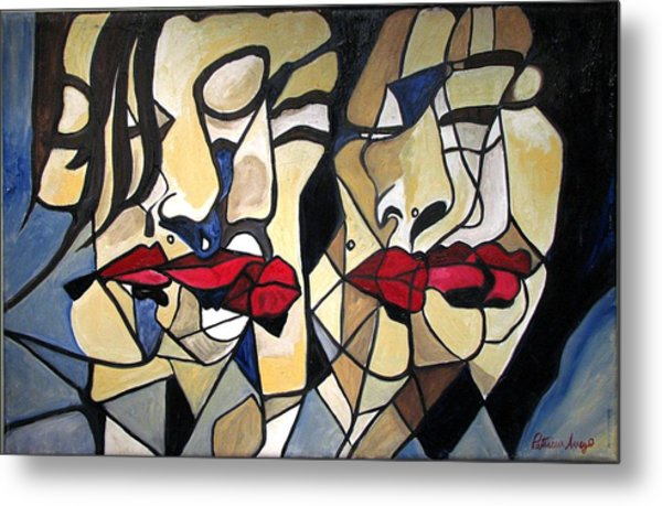 She Had Red Lips Metal Print by Patricia Arroyo