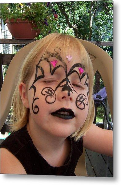 She Wanted A Tough Face Metal Print