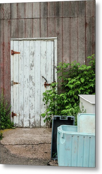Metal Print featuring the photograph Shed Door, French River by Rob Huntley