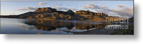 Sheep Mountain Sunrise - Panoramic-signed-12x55 Metal Print