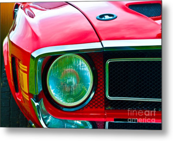 Red Shelby Mustang Metal Print