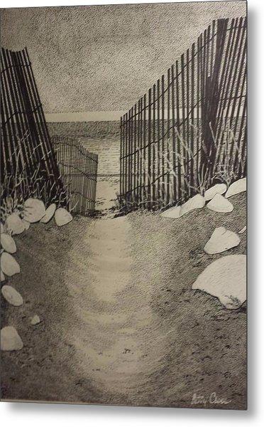 Shell Path Metal Print